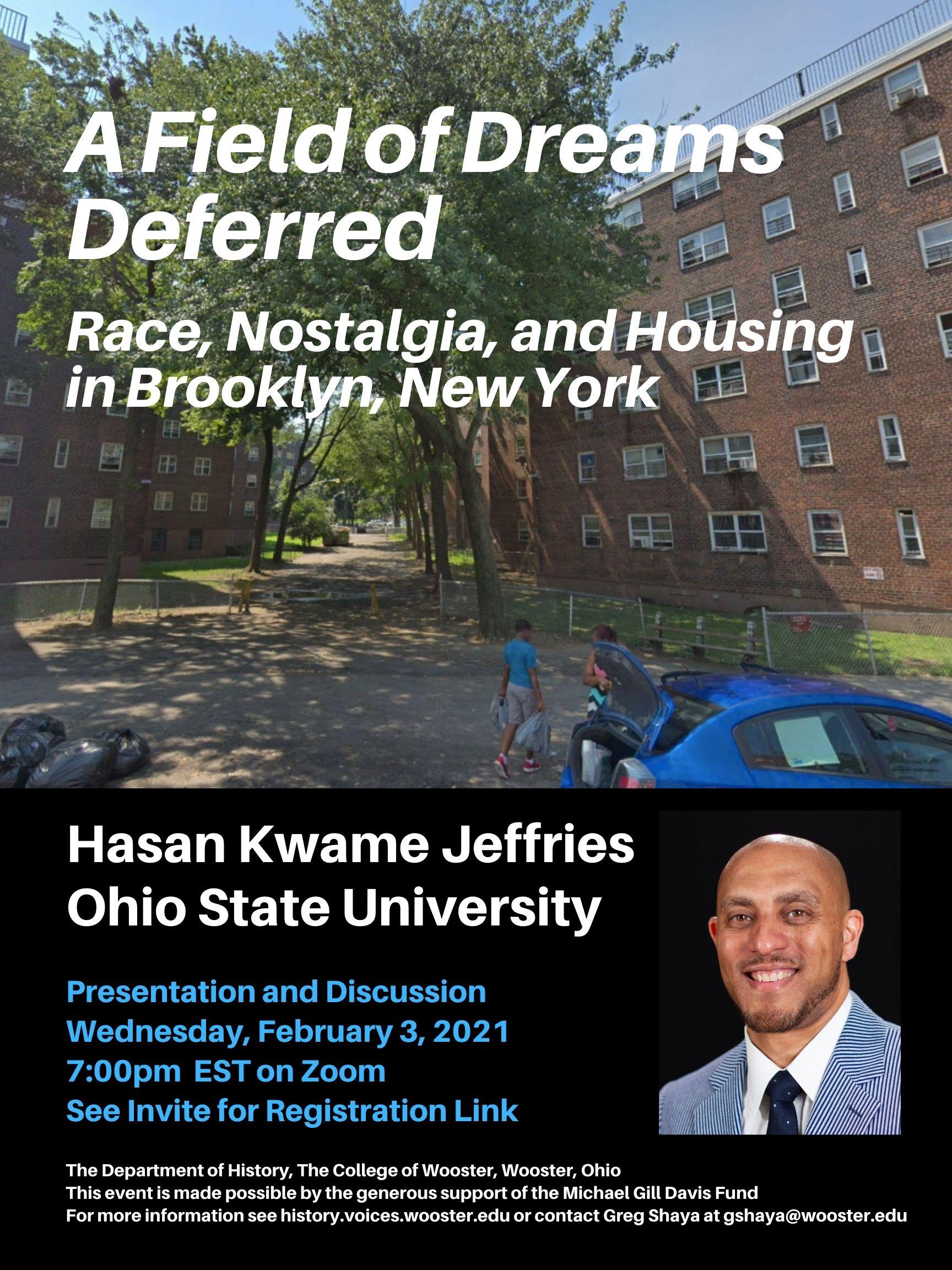Poster for Hasan Jeffries Talk